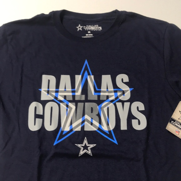 dallas cowboys Other - 🆕 DALLAS COWBOYS Mens Blue Cotton Tee Shirt MED